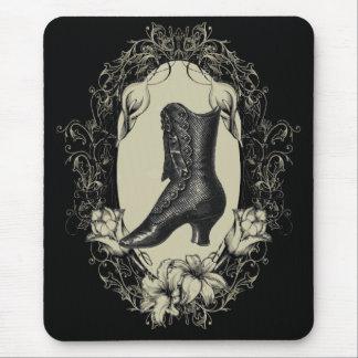 Vintage Shoe floral frame Chandelier Fashion Mouse Pad