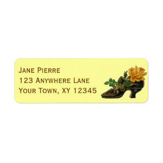 Vintage Shoe Custom Return Address Labels