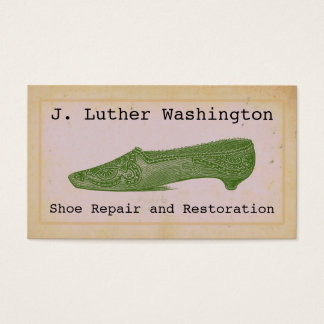 Vintage Shoe Repair Professional Business Cards