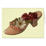 Vintage - Shoe with Roses Greeting Cards