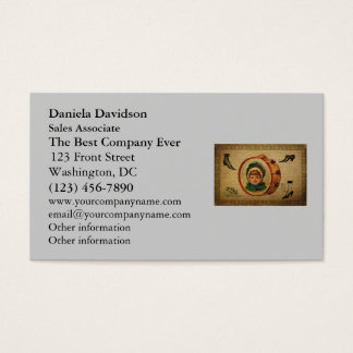 Vintage Shoes Collage Business Card
