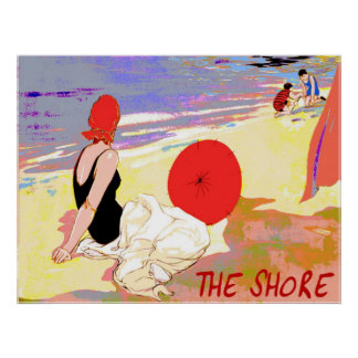 Vintage Shore Poster