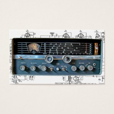 Professional Business Vintage Short Wave Radio Business Cards