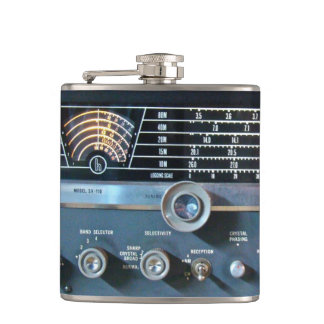 Vintage Short Wave Radio Flask