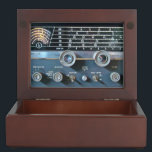 "Vintage Short Wave Radio Keepsake Box<br><div class=""desc"">This vintage vacuum tube shortwave radio receiver was popular with ham radio operators and short wave listeners in the 1950"