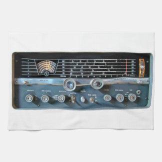 Vintage Short Wave Radio Kitchen Towel