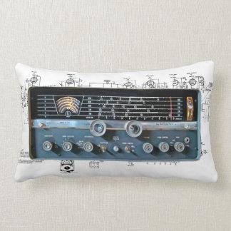 Vintage Short Wave Radio Lumbar Pillow