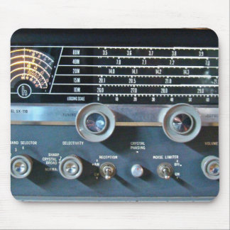 Vintage Short Wave Radio Mouse Pad