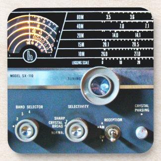 Vintage Short Wave Radio Receiver Drink Coaster