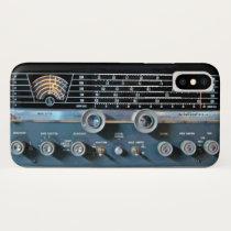 Vintage Short Wave Radio Receiver iPhone X Case