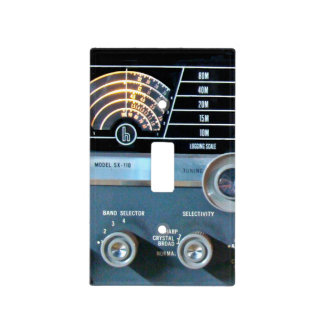 Vintage Short Wave Radio Receiver Light Switch Cover