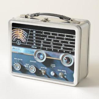 Vintage Short Wave Radio Receiver Metal Lunch Box