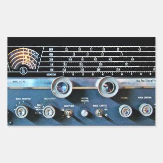Vintage Short Wave Radio Receiver Rectangular Sticker