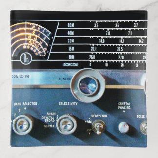 Vintage Short Wave Radio Receiver Trinket Trays