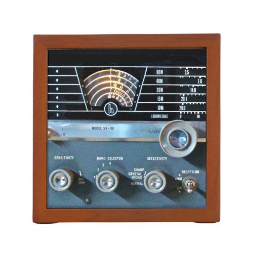 Vintage Shortwave Ham Radio Closeup Desk Organizer
