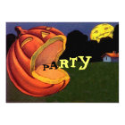 Vintage Shouting JOL Halloween Party Invitation