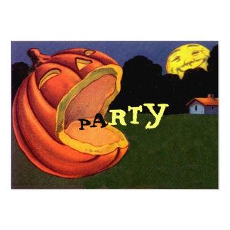 Vintage Shouting JOL Halloween Party Invitation