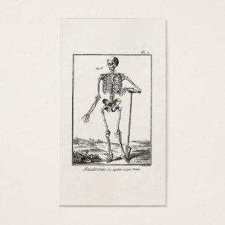 Vintage Shovel Farming Human Skeleton Anatomy Business Card
