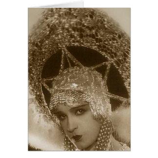 Vintage Showgirl Card