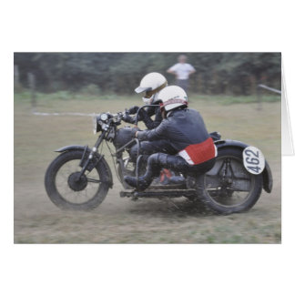 vintage sidecar outfit birthday card