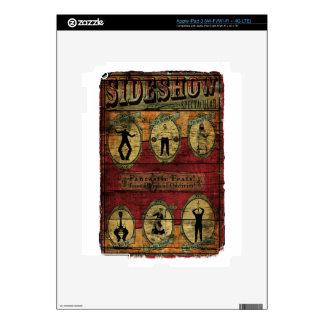 Vintage Sideshow Banner iPad 3 Decal