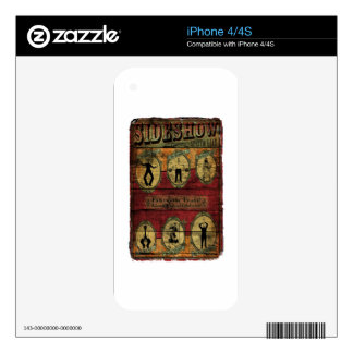Vintage Sideshow Banner iPhone 4 Decal