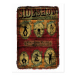 Vintage Sideshow Banner Postcard