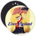 """Vintage """"siempre vigilante"""" patriótico pins"""