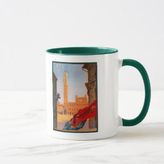 Vintage Siena Italian travel advertising Mug