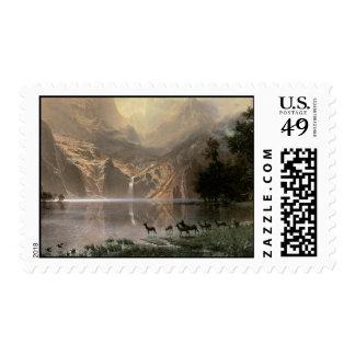 Vintage Sierra Nevada Mountains Postage Stamp