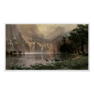 Vintage Sierra Nevada Mountains Poster