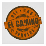 Vintage Sign El Camino Poster