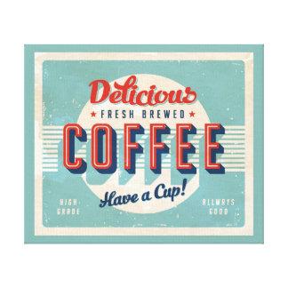 Vintage sign - Fresh Brewed Coffee Canvas Print