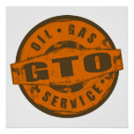 Vintage Sign GTO Poster