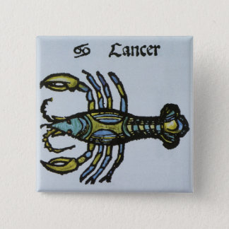 Vintage Sign of the Zodiac, Cancer the Crab Button