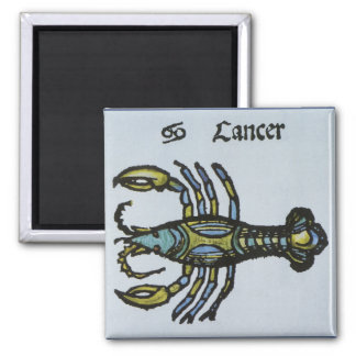 Vintage Sign of the Zodiac, Cancer the Crab Magnet