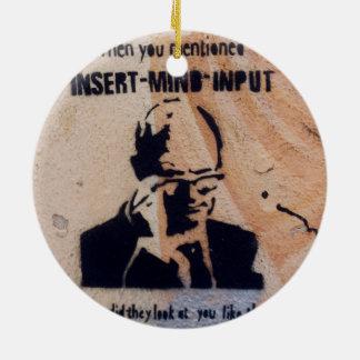 Vintage sign ornament
