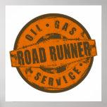 Vintage Sign Road Runner Poster