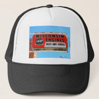 Vintage Sign Route 66 Kingman Wisconsin Engines Trucker Hat