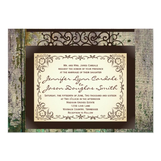 rustic country wedding invitations vintage sign rustic country wedding invitations zazzle 7192