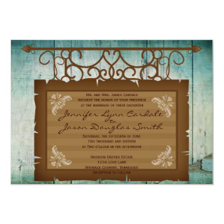 Vintage Sign Rustic Country Wedding Invitations