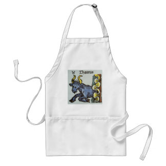 Vintage Signs of the Zodiac, Antique Taurus Bull Adult Apron