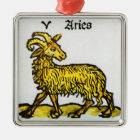 Vintage Signs of the Zodiac, Aries the Ram Metal Ornament