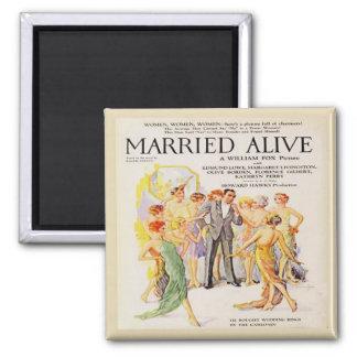 Vintage Silent Film Advert Fridge Magnet