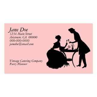 Vintage Silhouette Double-Sided Standard Business Cards (Pack Of 100)