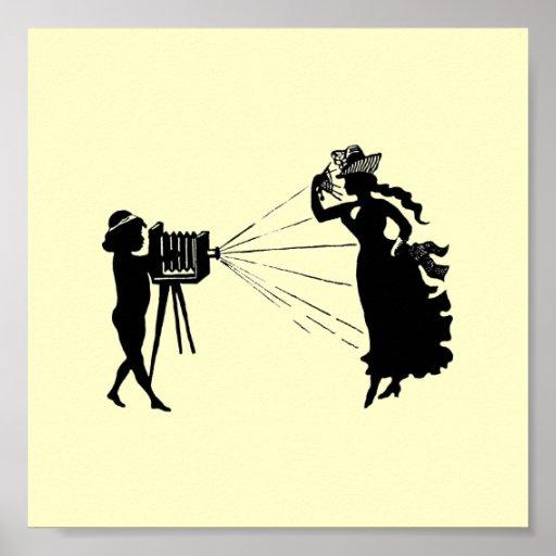 Vintage Silhouette Photographer Print