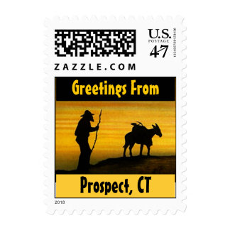 Vintage Silhouette Prospect CT Connecticut Stamps