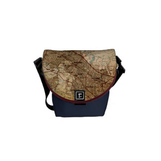 Vintage Silicon Valley Map Courier Bag