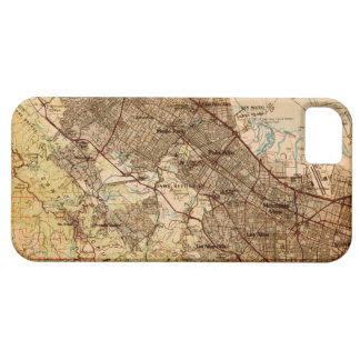 Vintage Silicon Valley Map iPhone Case iPhone 5 Covers
