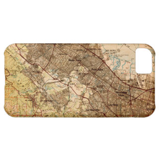 Vintage Silicon Valley Map iPhone Case iPhone 5C Covers